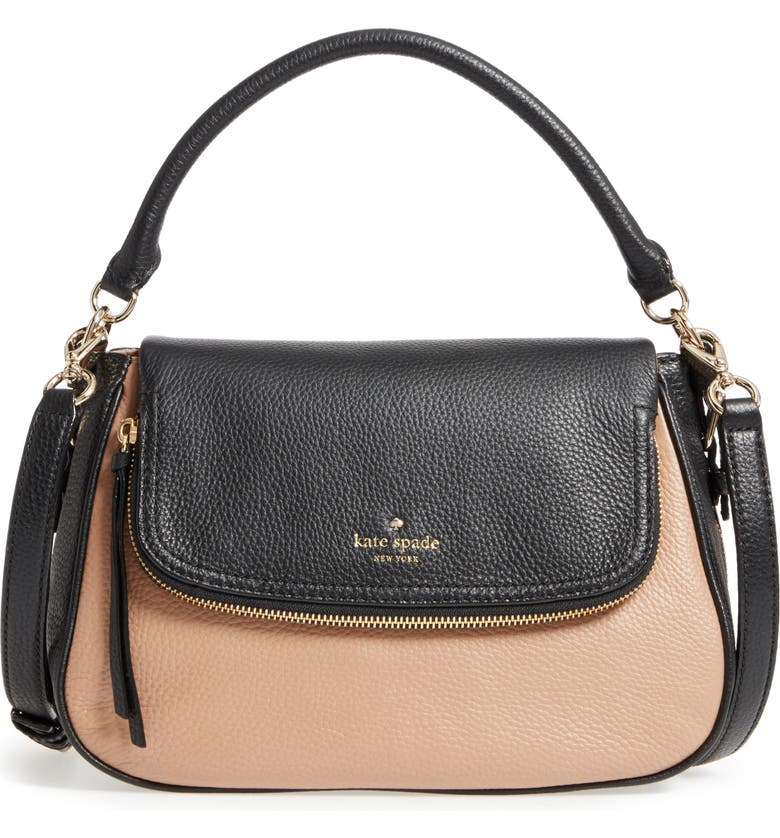 KATE SPADE NEW YORK cobble hill - deva leather crossbody bag, Main, color, 200
