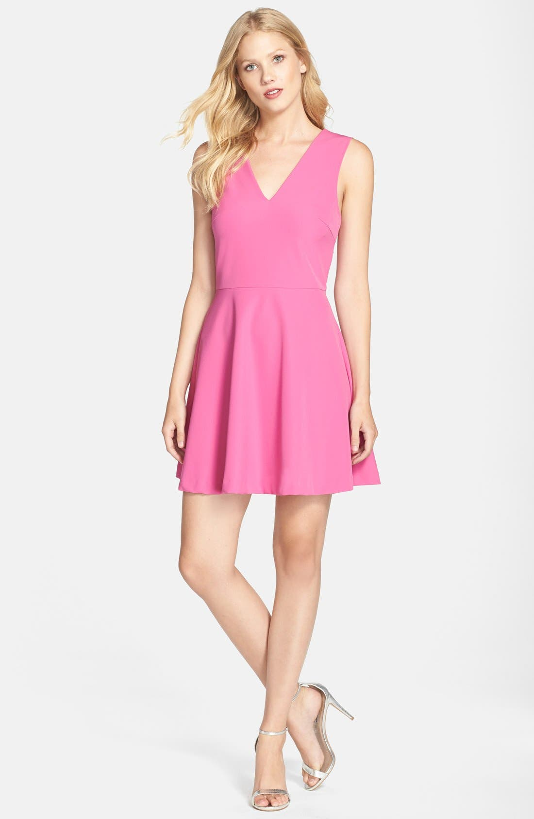 ,                             Bianca Back Cutout Fit & Flare Dress,                             Alternate thumbnail 87, color,                             950