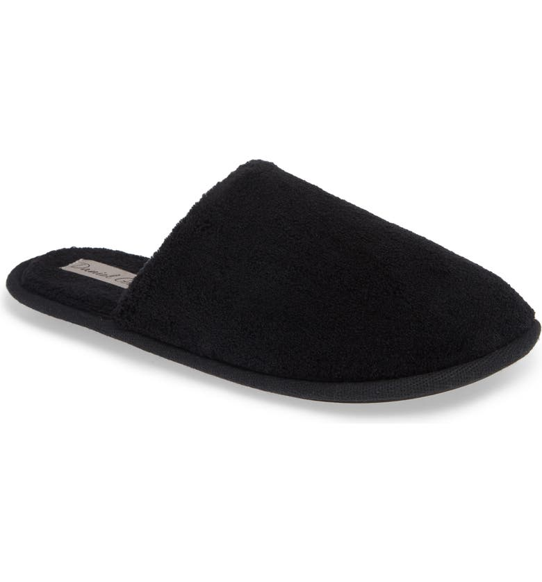 DANIEL GREEN Rave II Slipper, Main, color, BLACK FABRIC