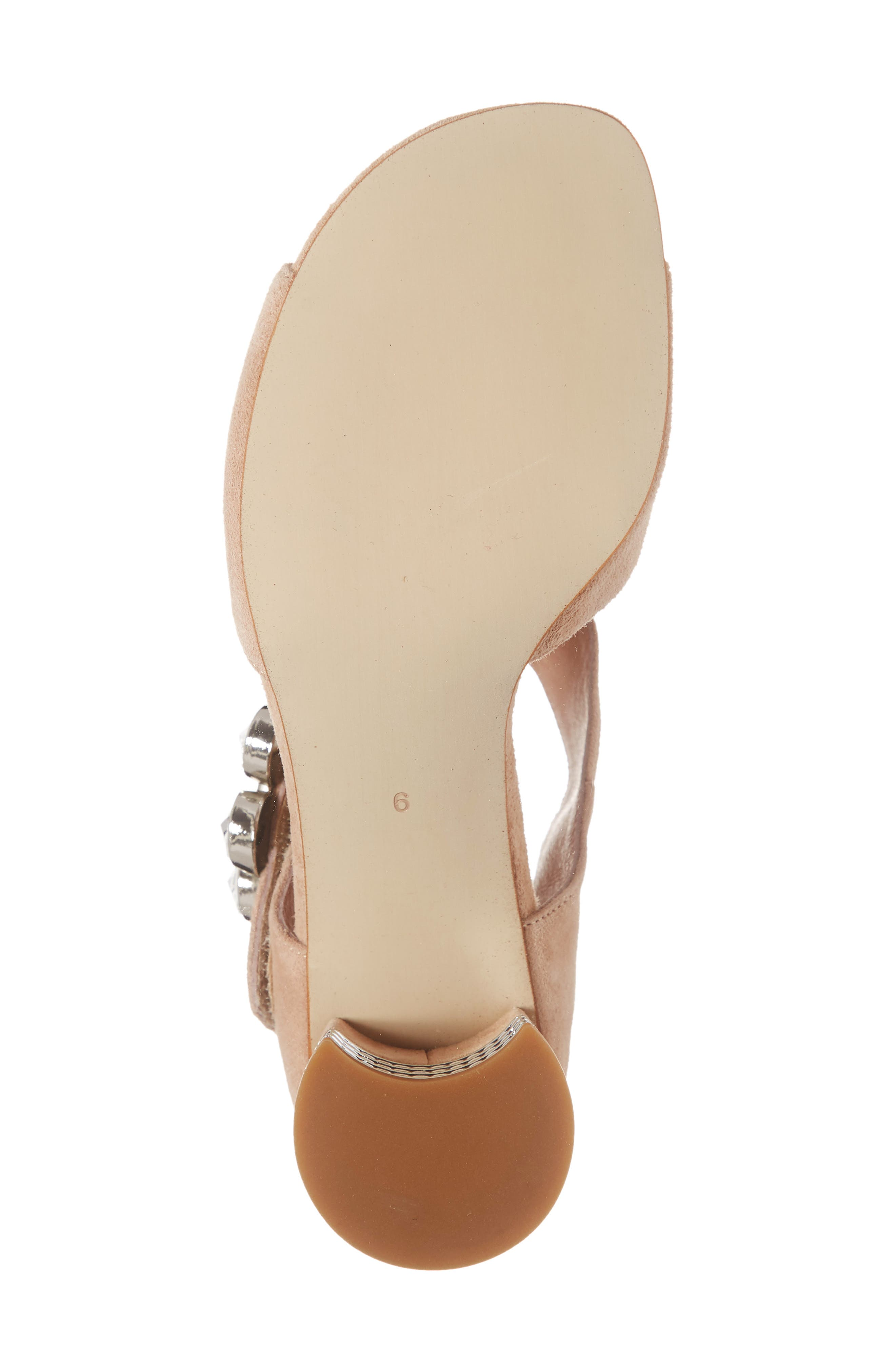 ,                             Boleyn Sandal,                             Alternate thumbnail 6, color,                             NUDE SUEDE/ SILVER