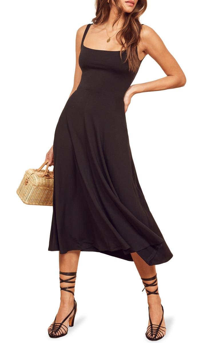 REFORMATION Mary Tank Dress, Main, color, BLACK