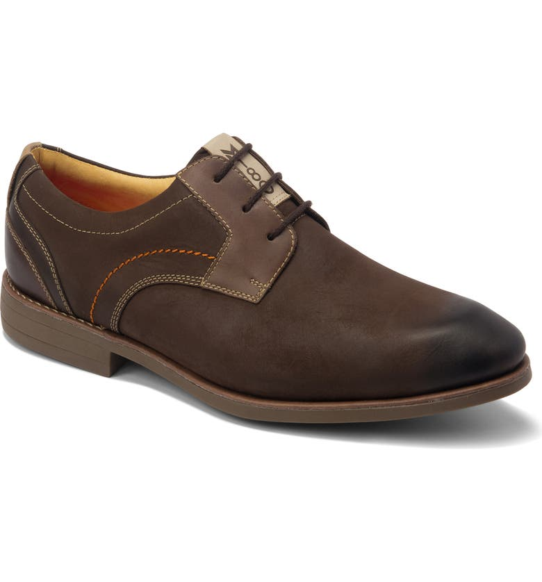 SANDRO MOSCOLONI Mantel Plain Toe Derby, Main, color, BROWN LEATHER