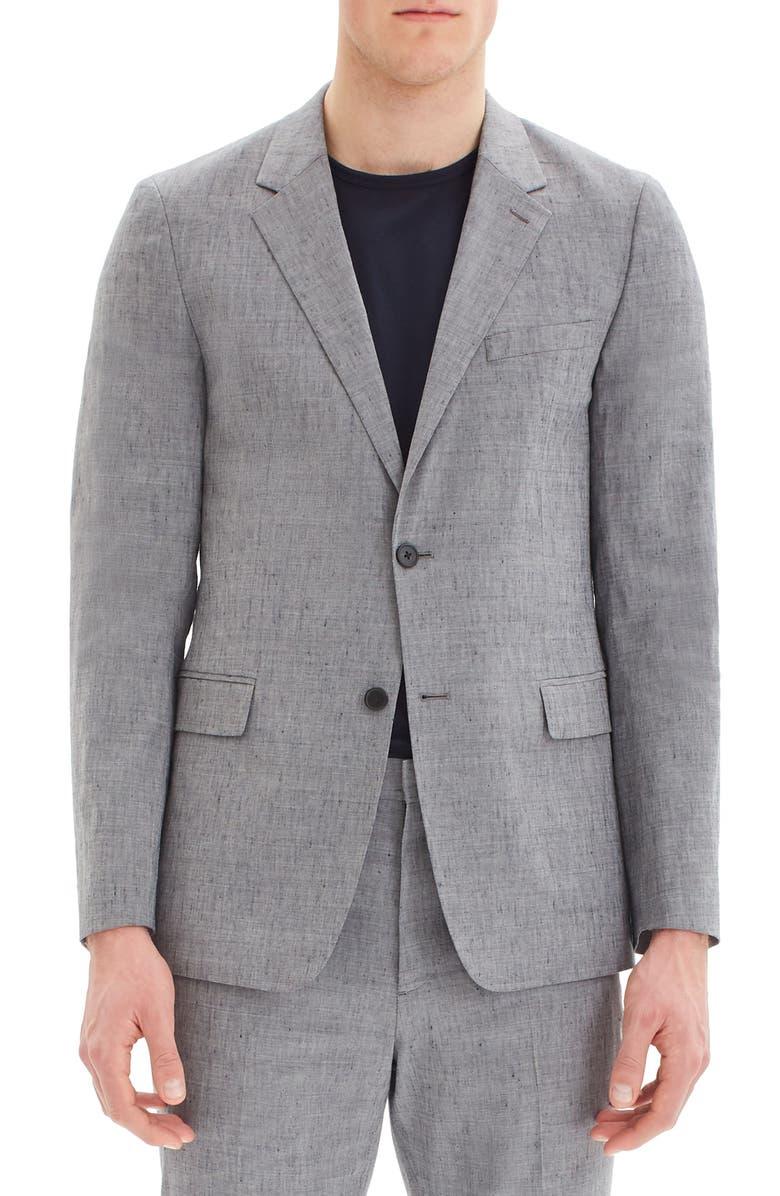 THEORY Gansevoort Slub Linen Blend Sport Coat, Main, color, REEF