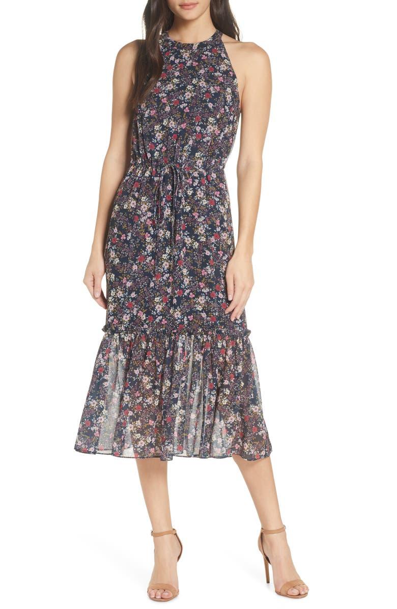 Cooper St Star Crossed Floral Chiffon Midi Dress