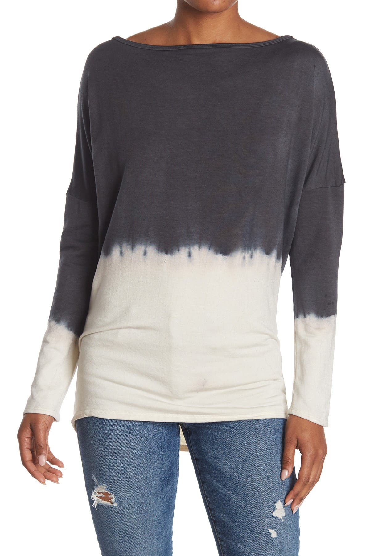 Image of Go Couture Boatneck Dolman Knit Sweater