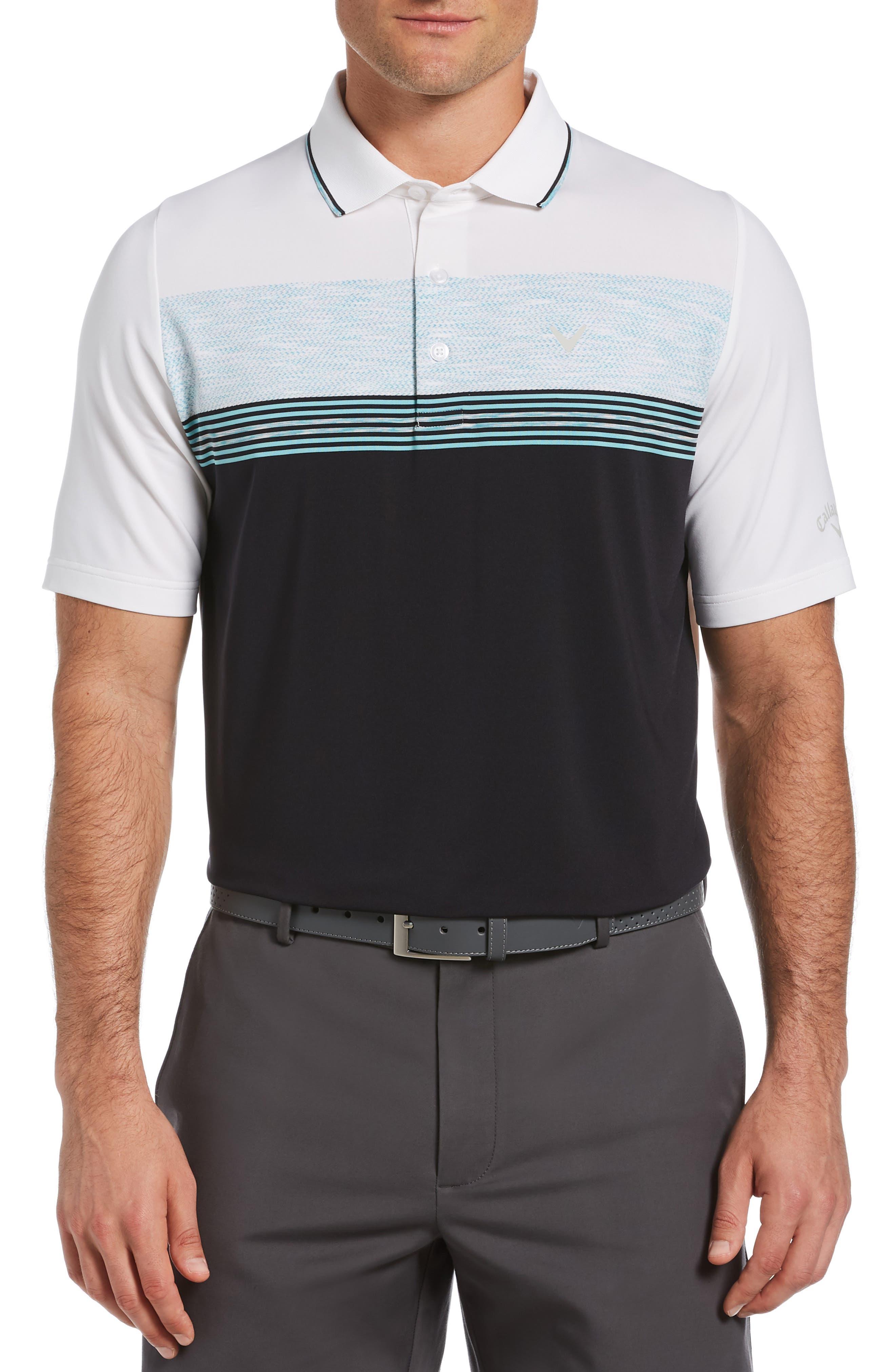Men's Callaway Golf Swing Tech(TM) Engineered Stripe Performance Golf Polo