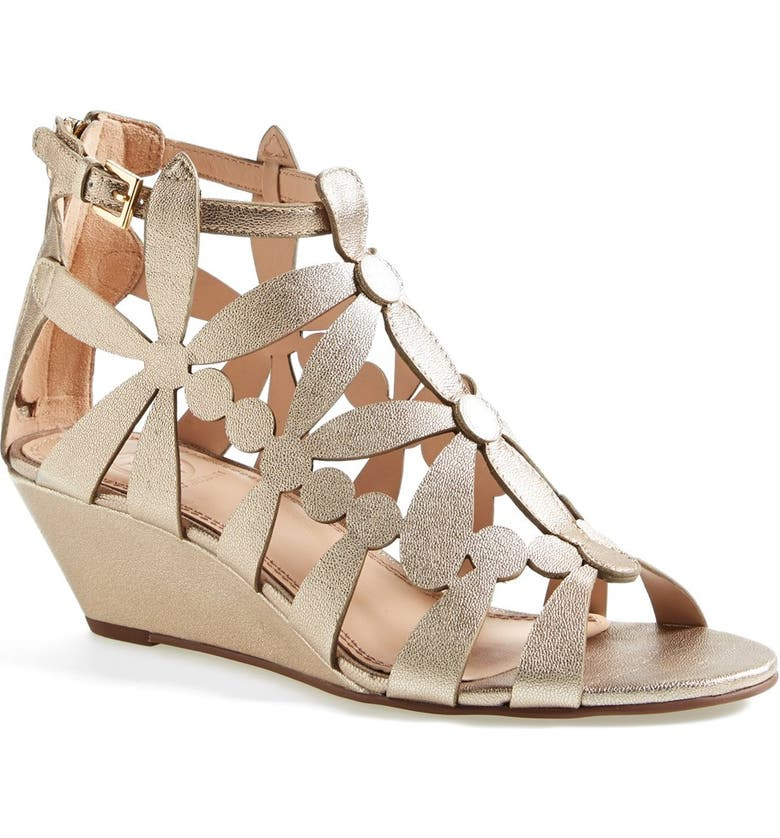 TORY BURCH 'Emerson' Cage Wedge Sandal, Main, color, 710