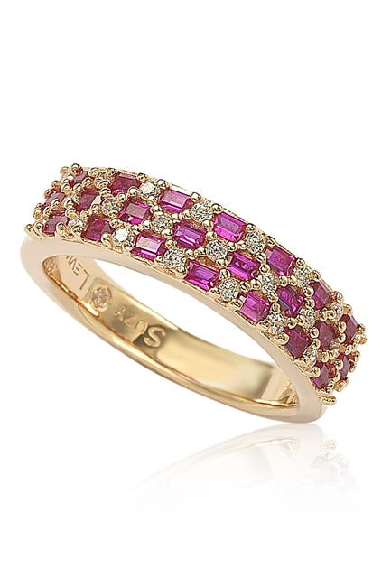Image of Suzy Levian Pave Red & White CZ Eternity Band