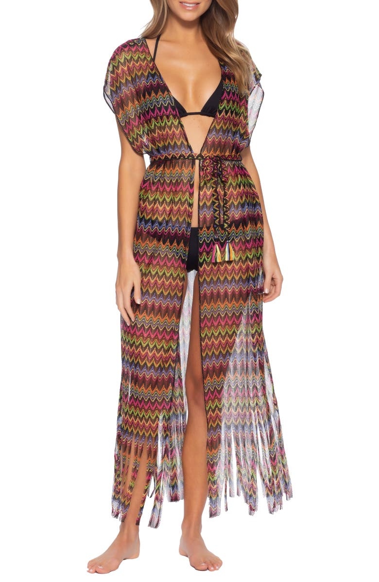 BECCA Carnavale Cover-Up Wrap, Main, color, MULTI