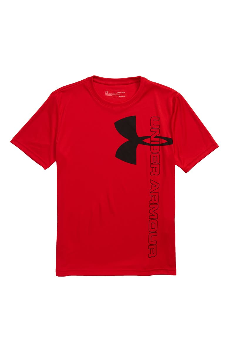 UNDER ARMOUR Split Logo Hybrid HeatGear<sup>®</sup> Performance T-Shirt(Big Boys), Main, color, 600