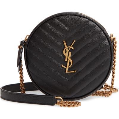 Saint Laurent Jade Matelasse Leather Crossbody Bag - Black