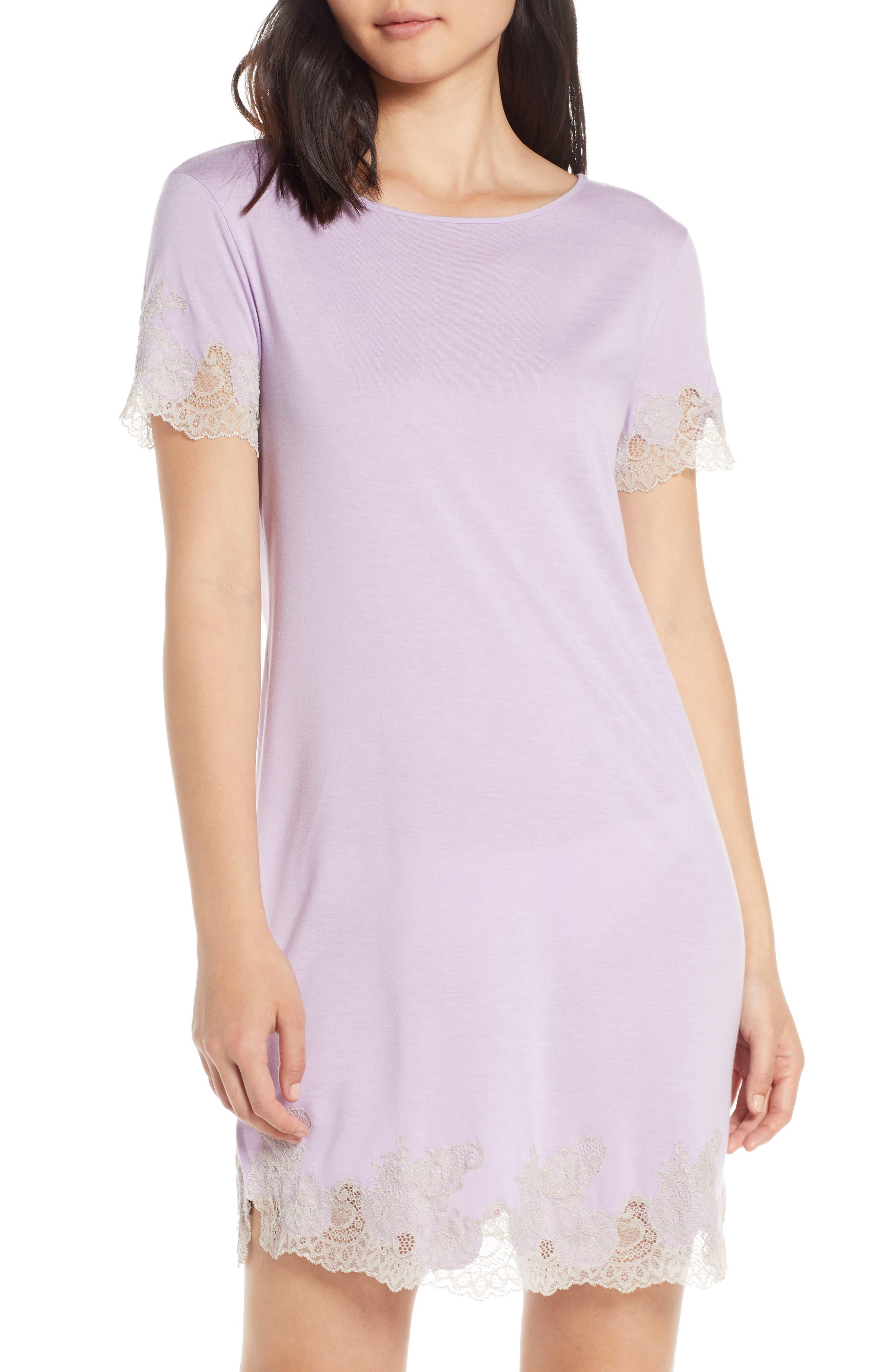 Natori Luxe Shangri-La Sleep Shirt, Purple