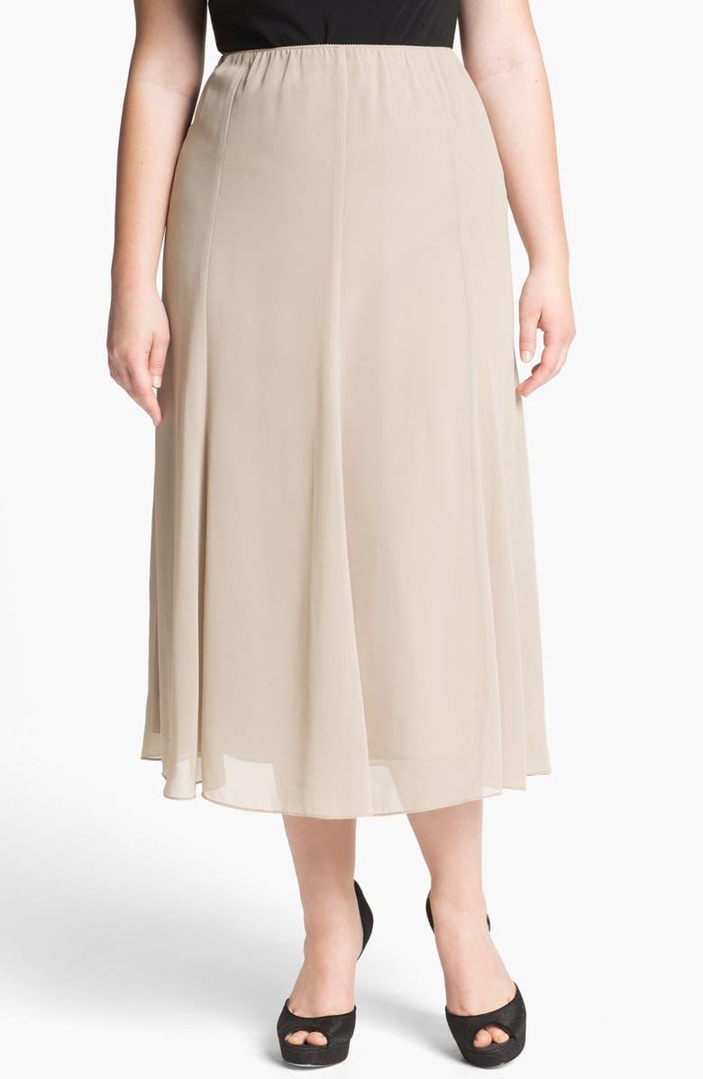 ALEX EVENINGS Chiffon Skirt, Main, color, 250