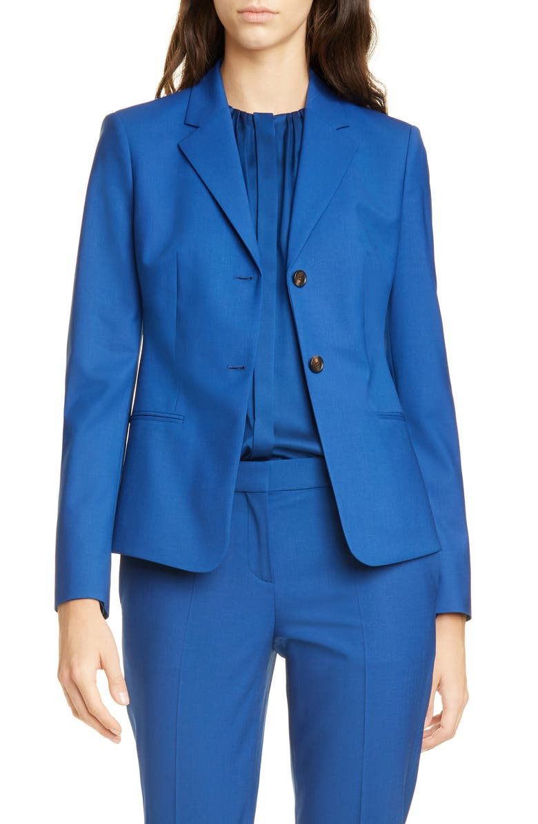 BOSS Jatinda Stretch Wool Jacket, Main, color, PILOT