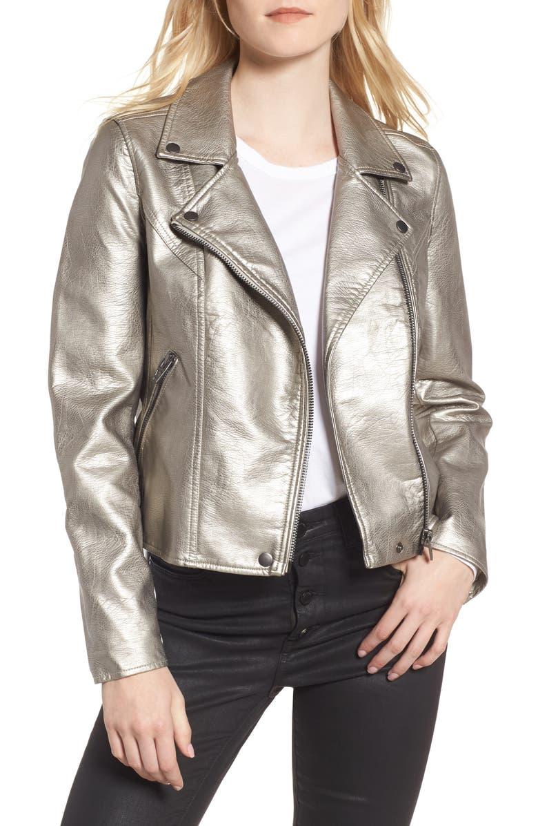BLANKNYC Life Changer Moto Jacket, Main, color, 040