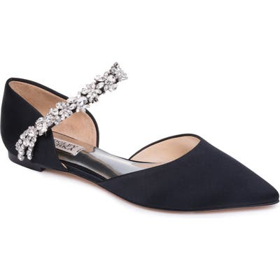 Badgley Mischka Erin Embellished Flat- Black