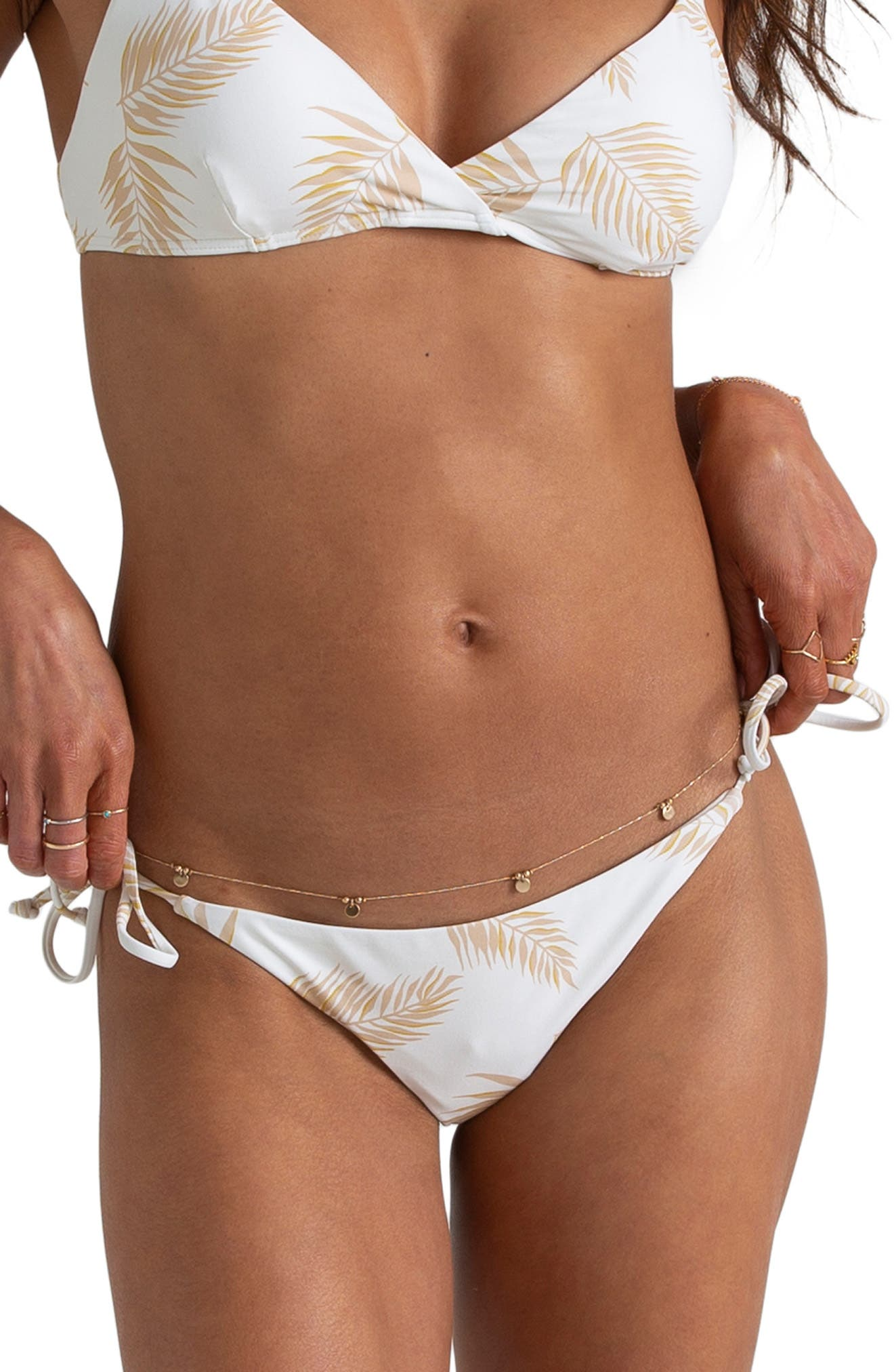 Billabong X Sincerely Jules Dos Palmas Bikini Bottoms, White