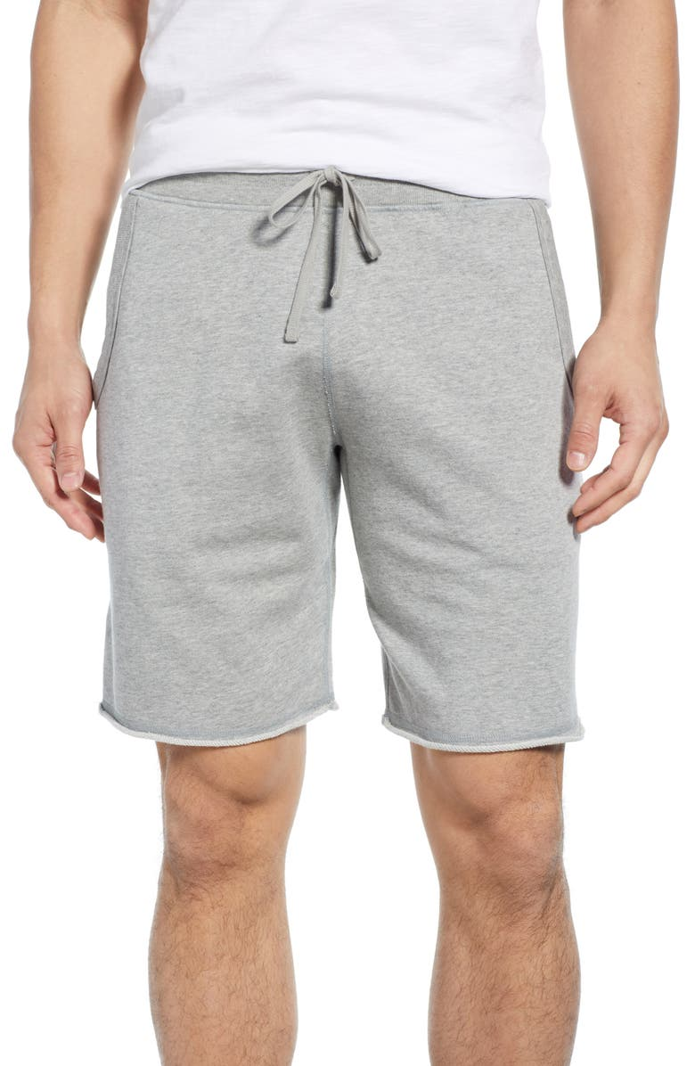 REIGNING CHAMP Cutoff Fleece Athletic Shorts, Main, color, 060