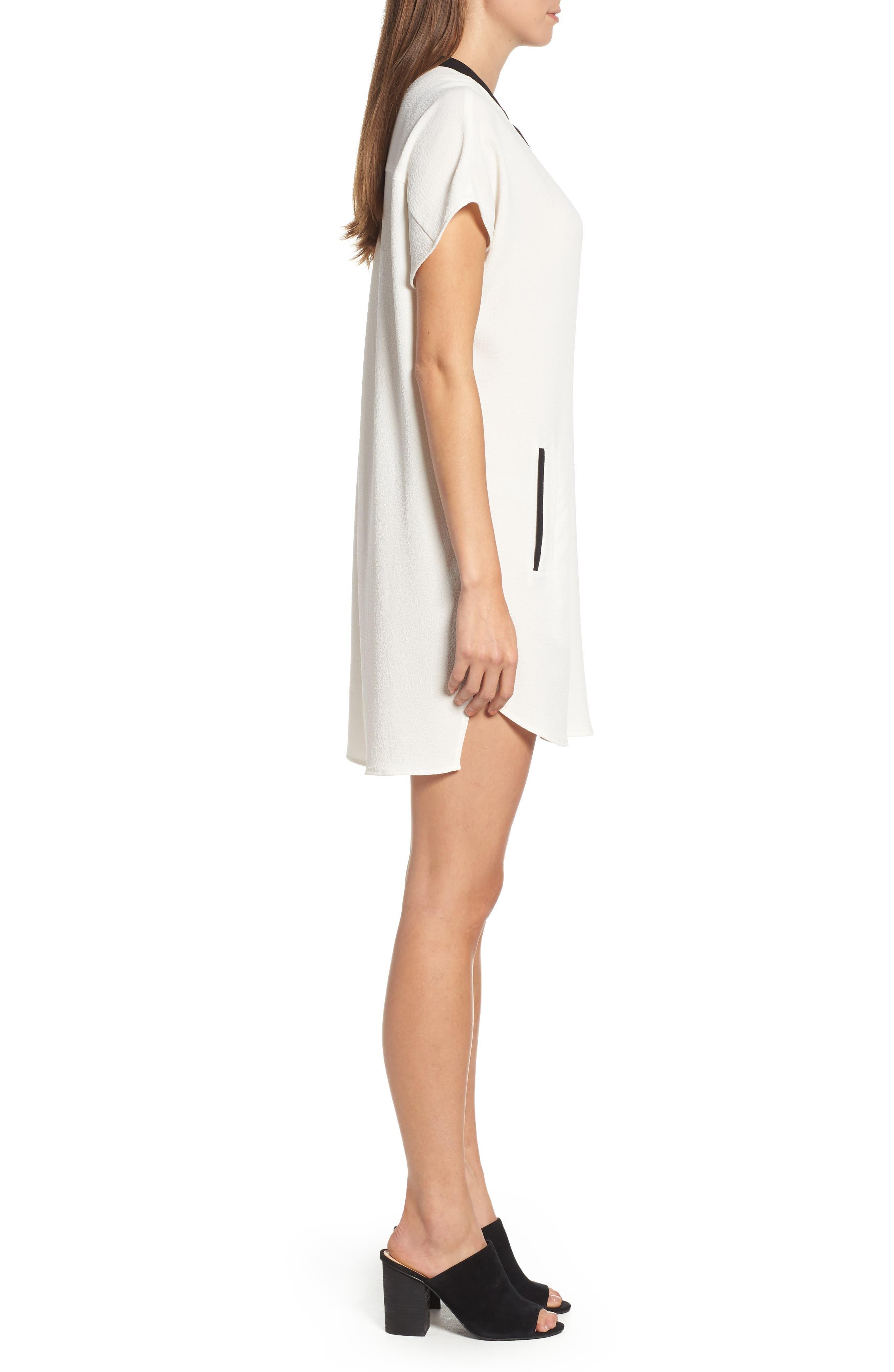,                             ASTR V-Neck Crepe Shift Dress,                             Alternate thumbnail 13, color,                             900