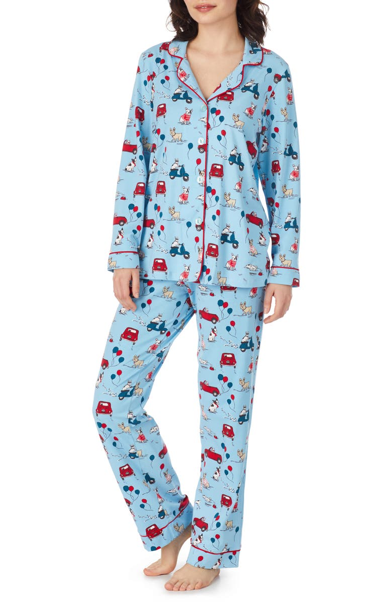 BEDHEAD Print Stretch Cotton Pajamas, Main, color, MURRAYS DAY OUT