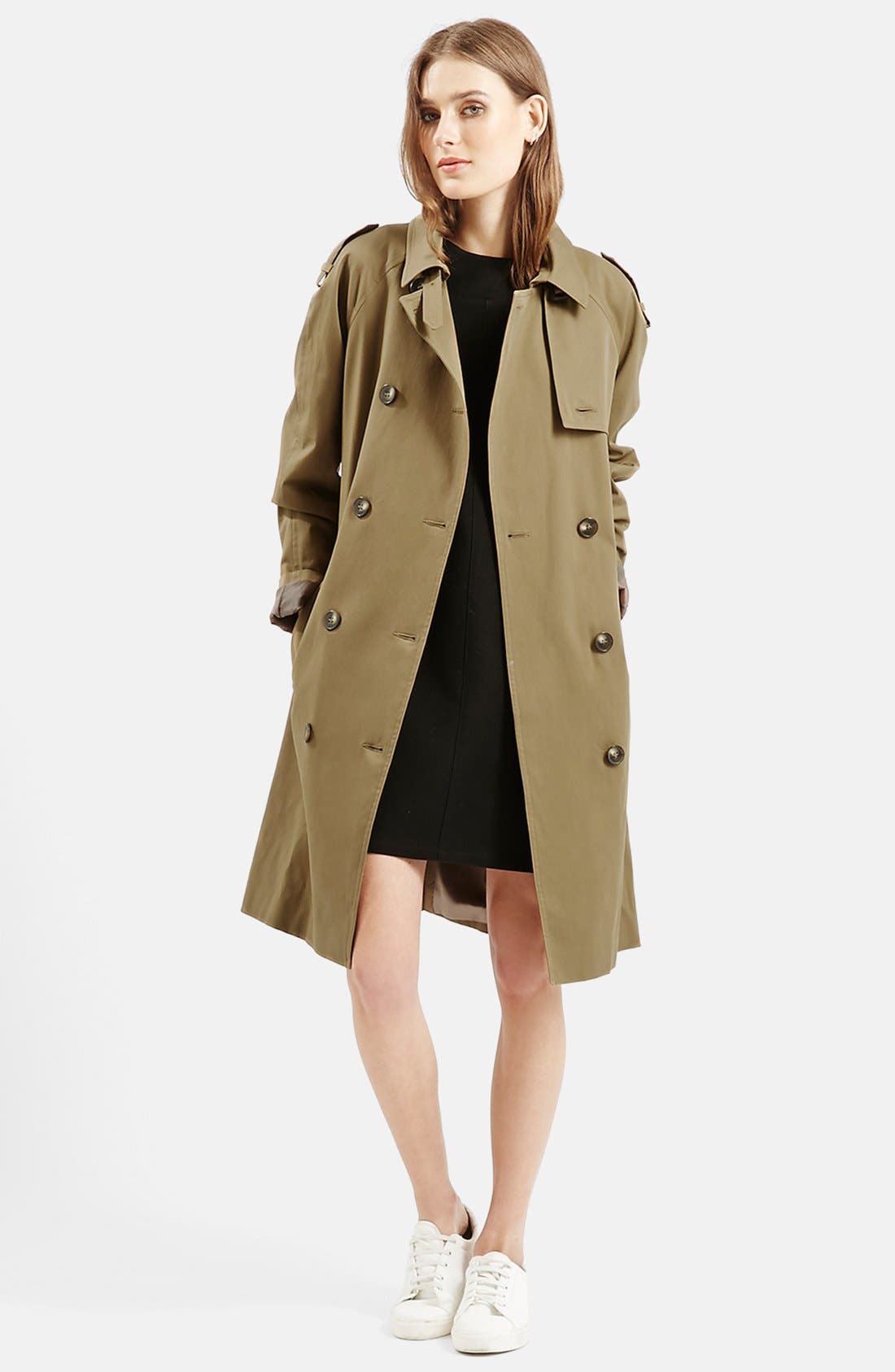 ,                             Double Breasted Cotton Trench,                             Alternate thumbnail 9, color,                             300