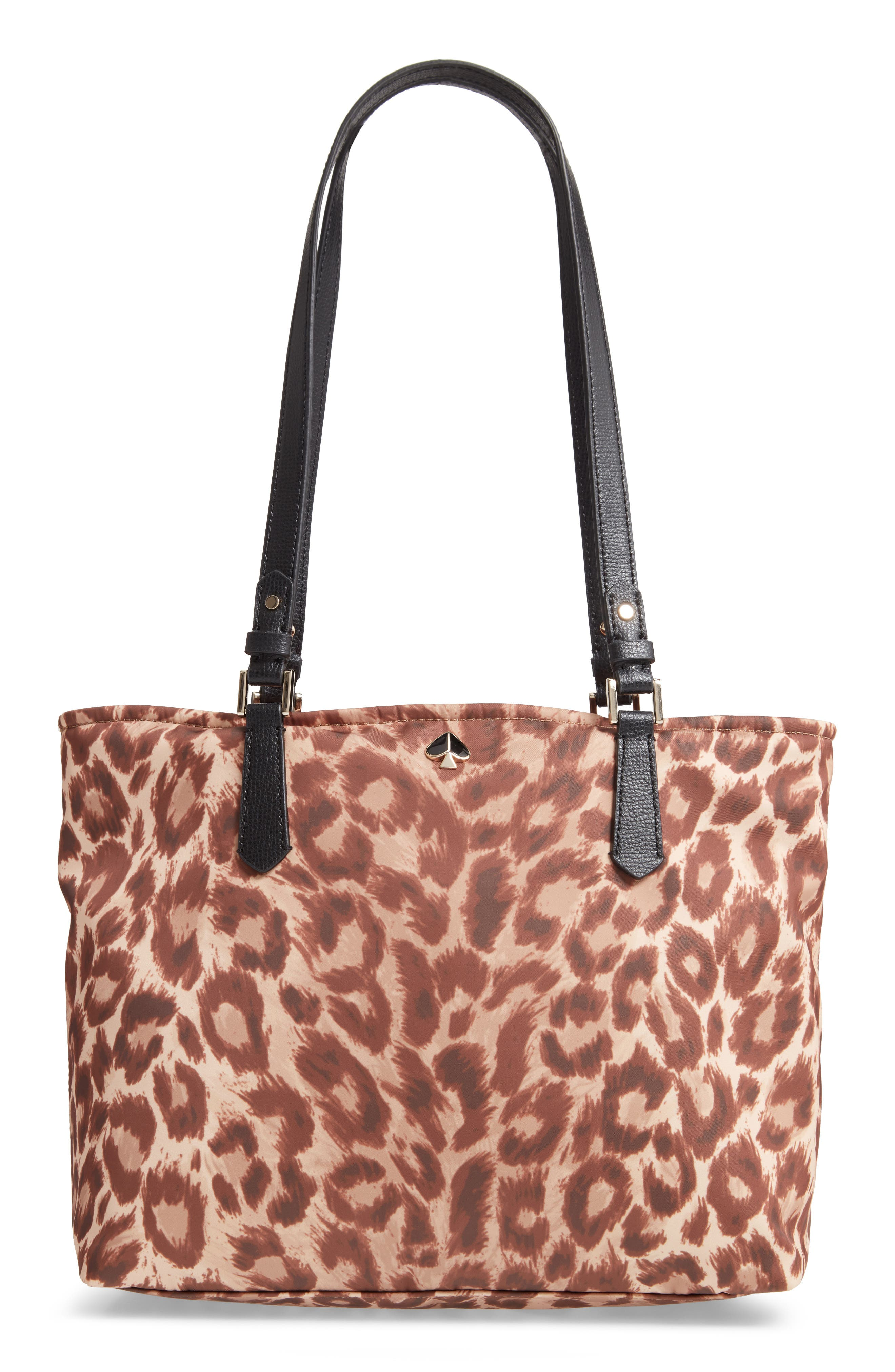 Kate Spade New York Medium Taylor Leopard Nylon Tote