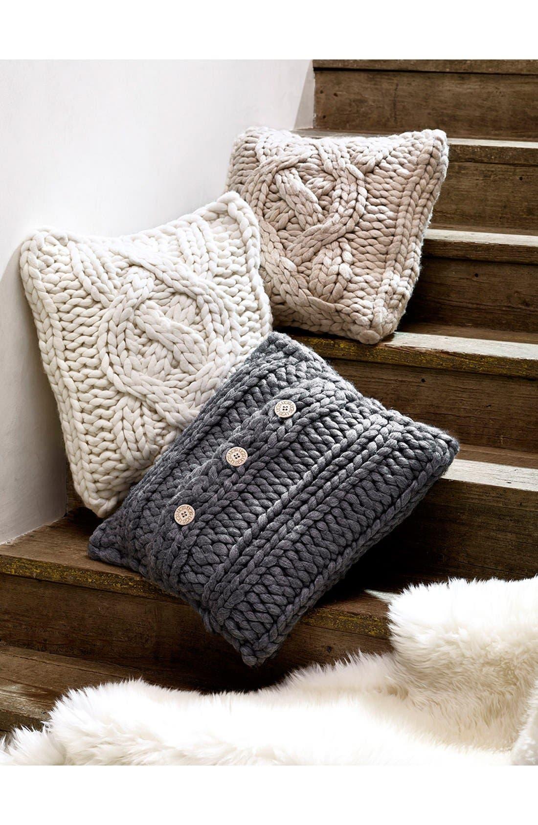 ,                             Oversize Knit Pillow,                             Alternate thumbnail 4, color,                             020