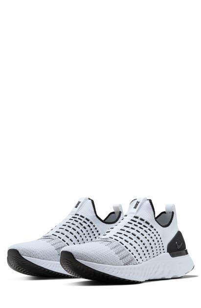 Nike React Phantom Run Flyknit 2 Men's Running Shoe (true White) In White/ White