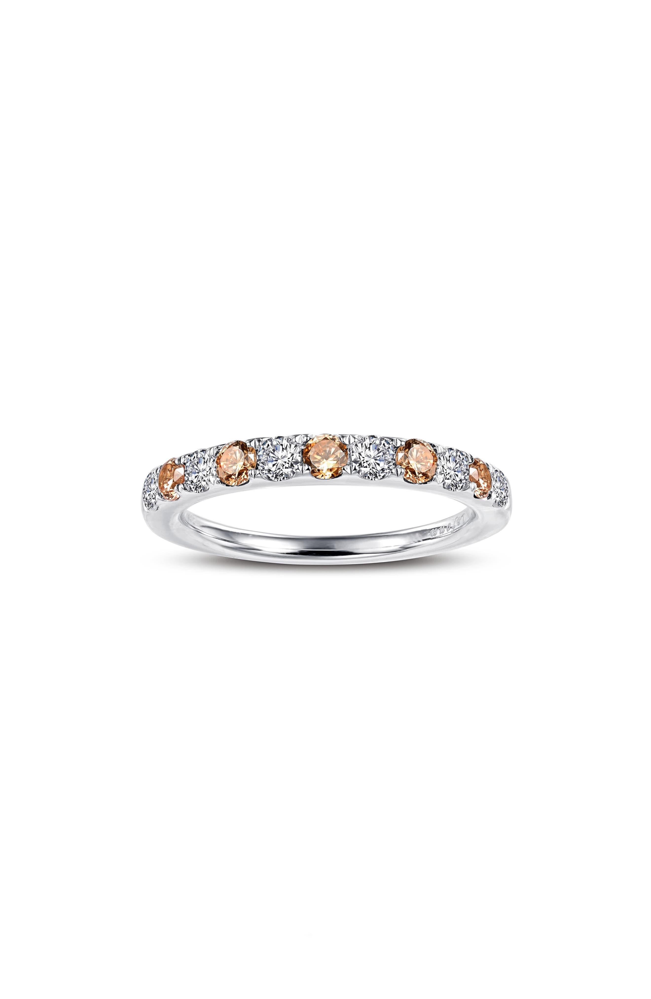 Simulated Diamond Birthstone Band Ring
