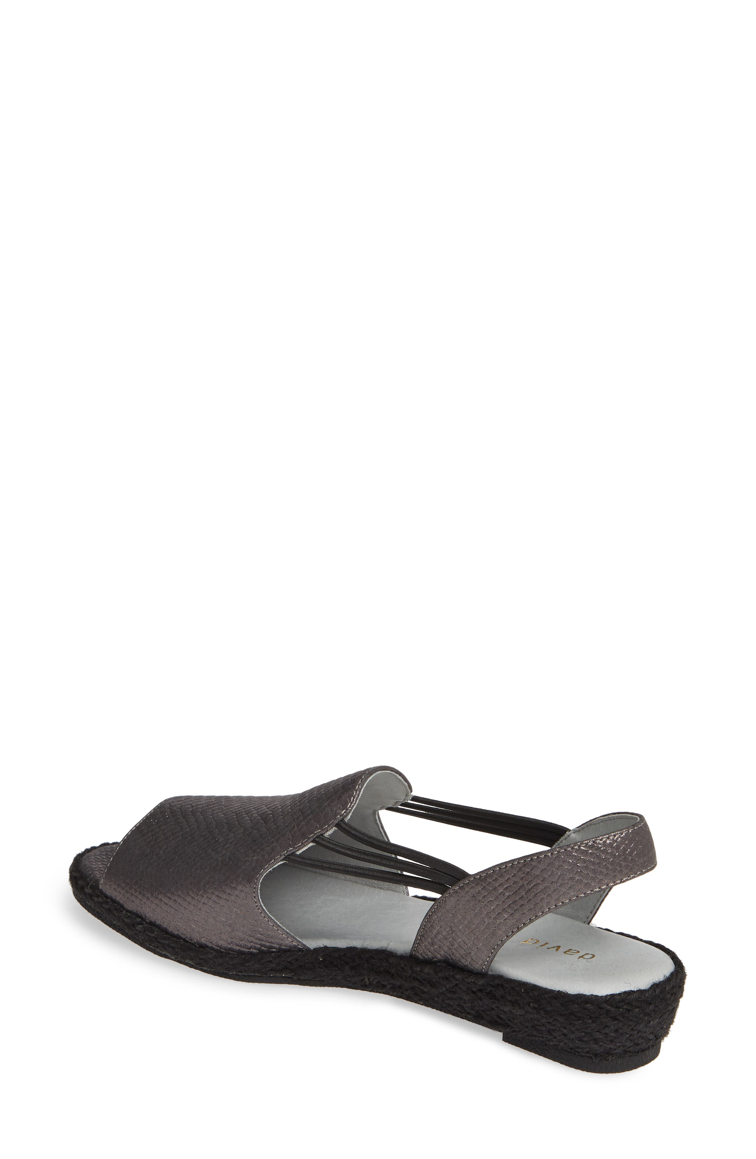 ,                             June Wedge Sandal,                             Alternate thumbnail 2, color,                             BLACK LEATHER