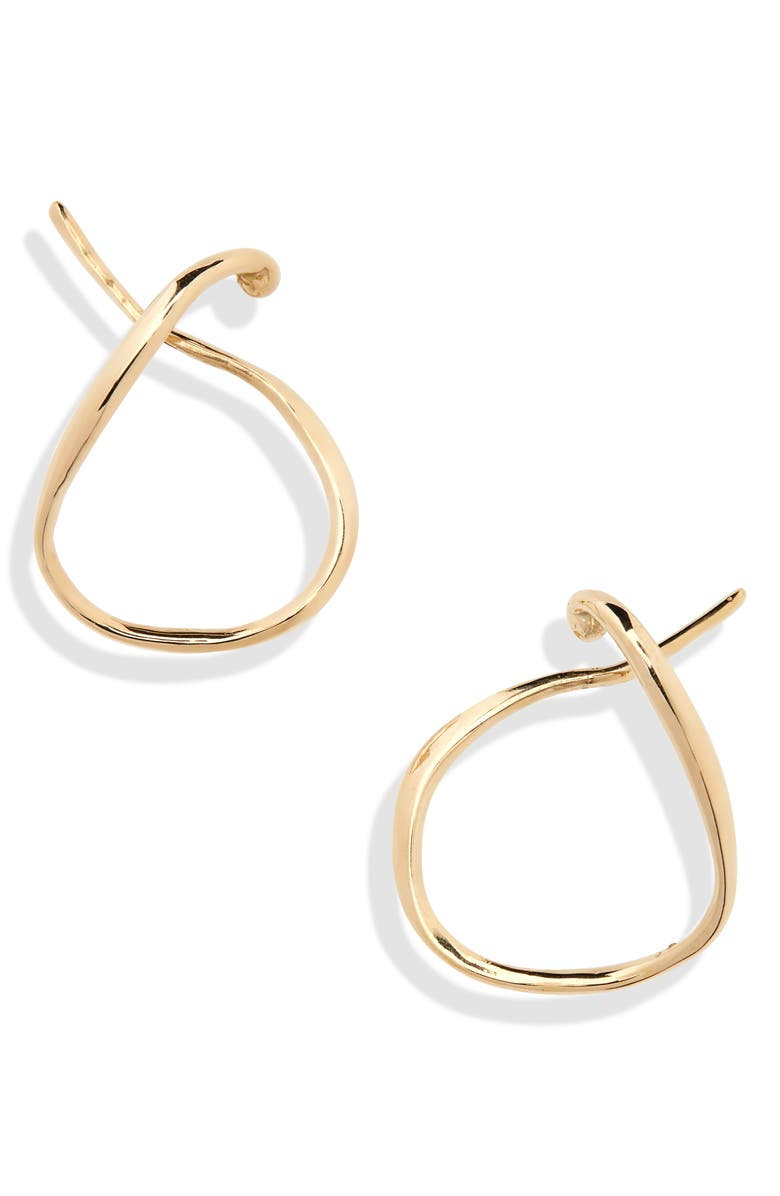 FARIS Vinea Hoop Ear Cuffs, Main, color, BRONZE