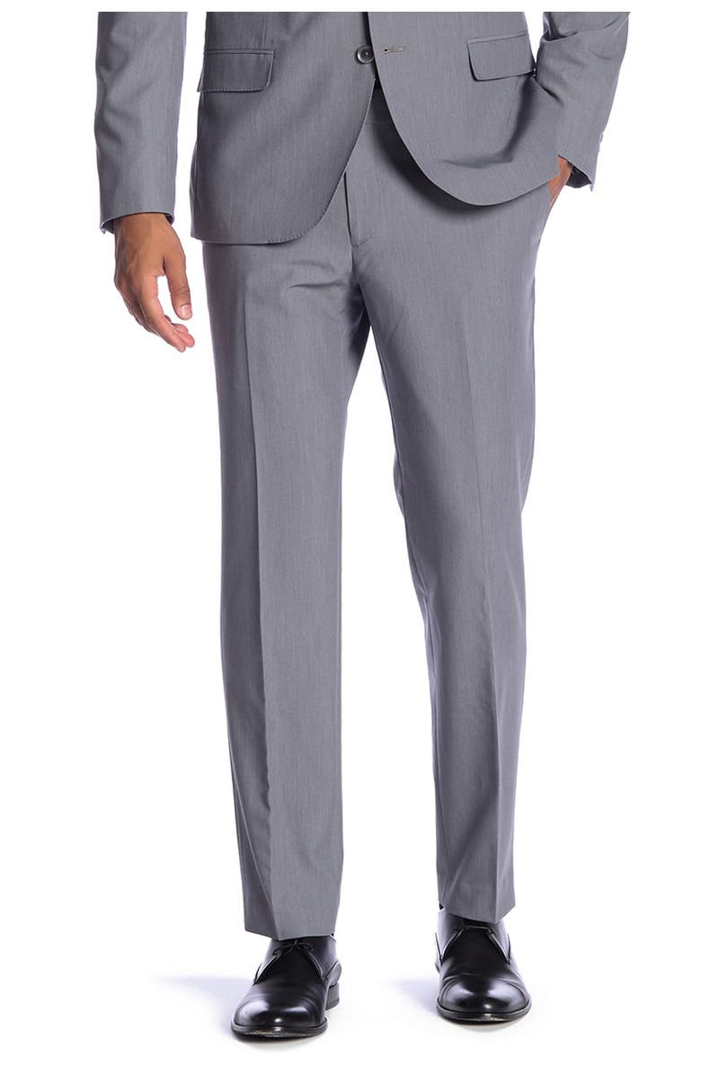 "SAVILE ROW Essex Grey Slim Fit Bi-Stretch Suit Separate Pants - 30-34"" Inseam, Main, color, GREY"