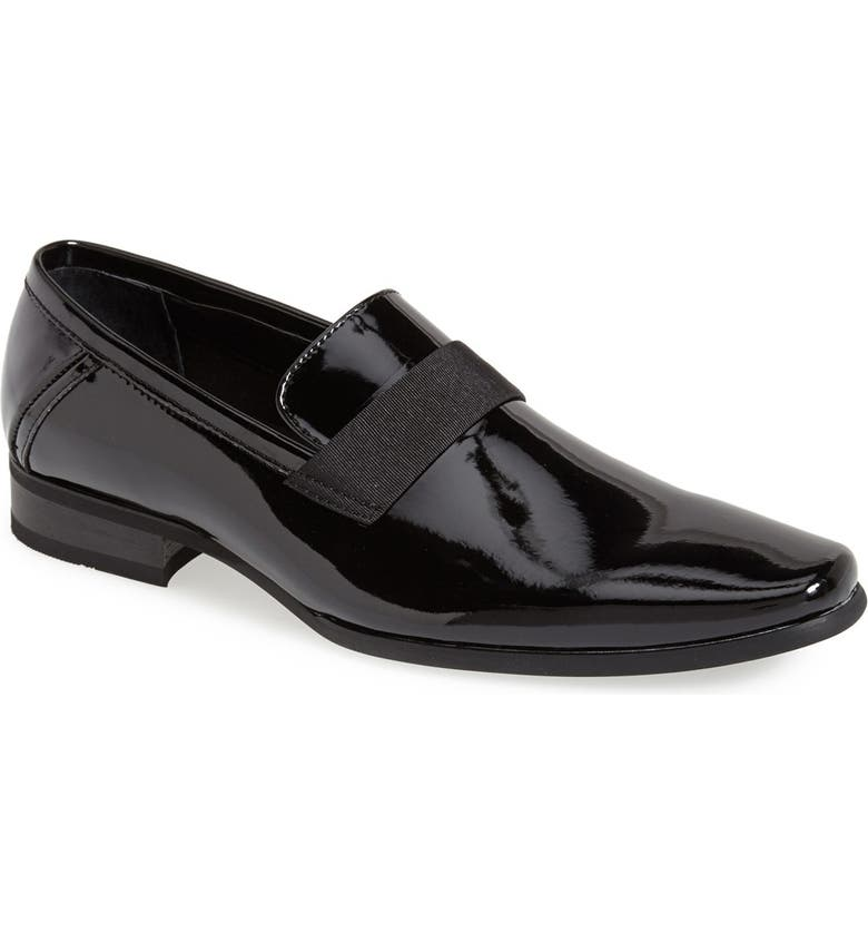 CALVIN KLEIN 'Bernard' Venetian Loafer, Main, color, BLACK