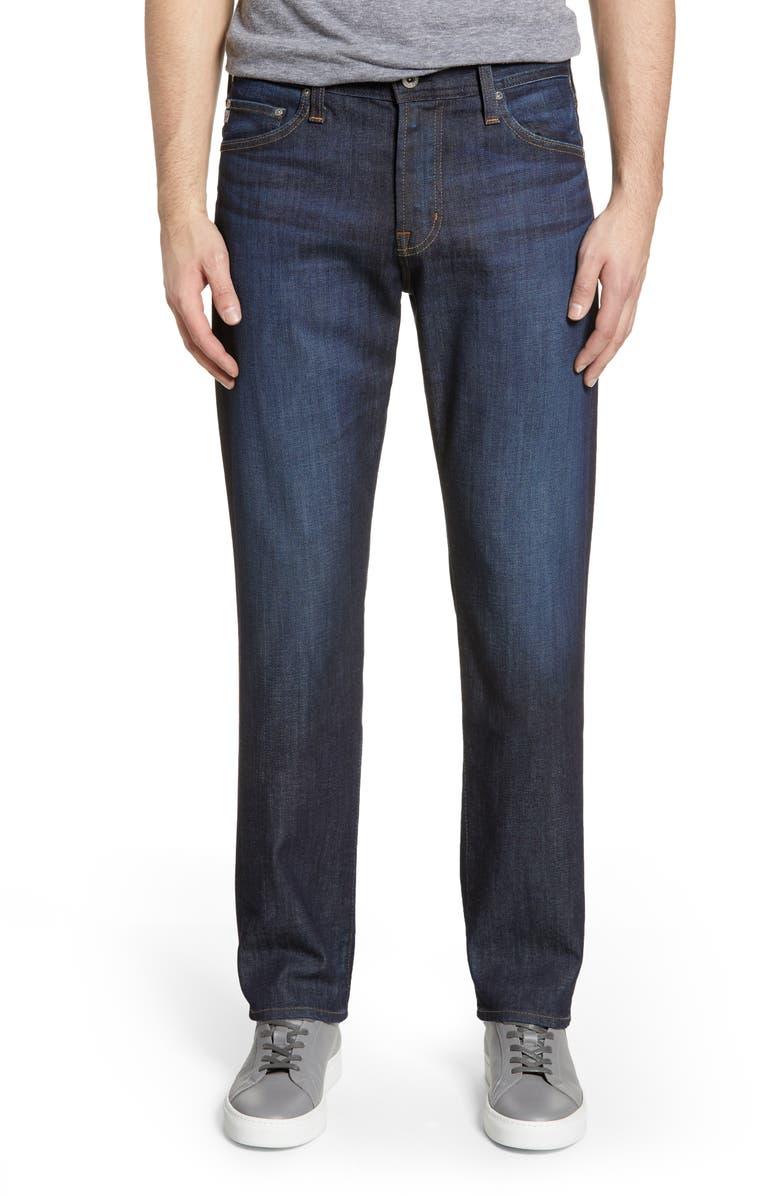AG Everett Slim Straight Leg Jeans, Main, color, FREE FALL