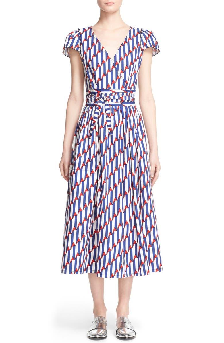 5415a641cd1 MARC JACOBS Arrow Print Stretch Poplin Wrap Dress | Nordstrom