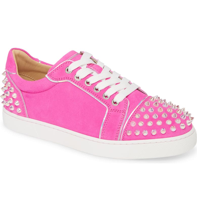 CHRISTIAN LOUBOUTIN Vieirissima Spike Low Top Sneaker, Main, color, DIVA/ CLEAR