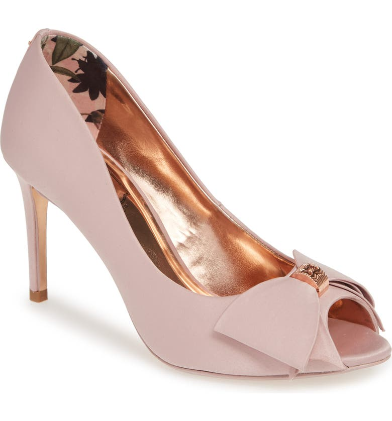 TED BAKER LONDON Nualas Pump, Main, color, PINK BLOSSOM SATIN