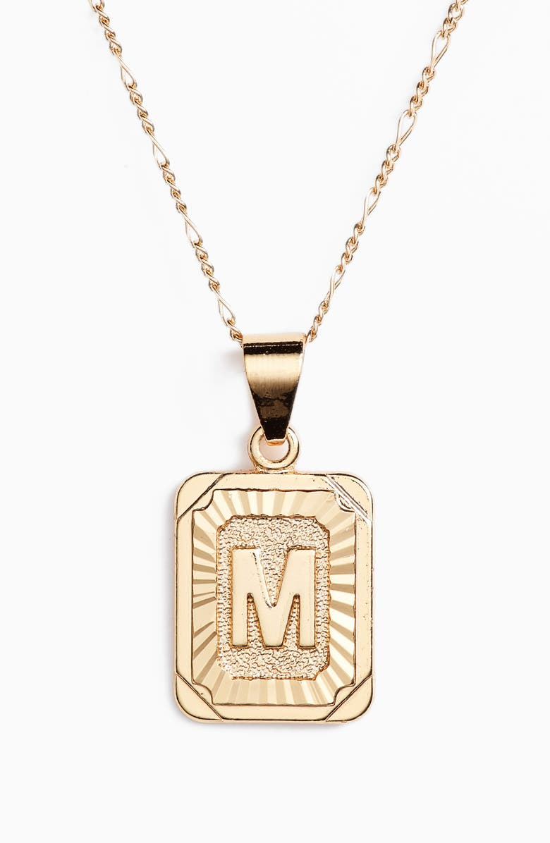 BRACHA Initial Pendant Necklace, Main, color, GOLD-M