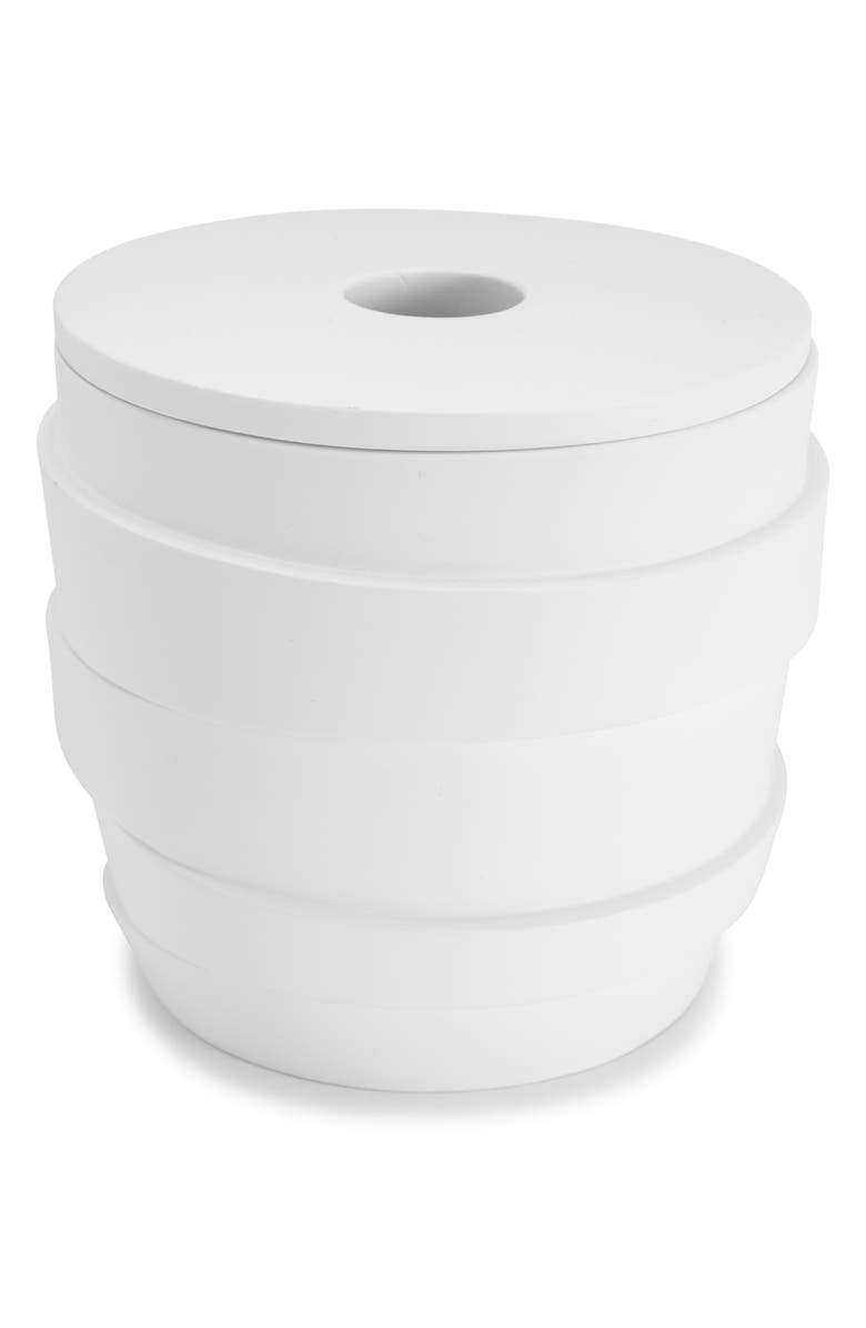 KASSATEX Alpine Cotton Ball Jar, Main, color, WHITE