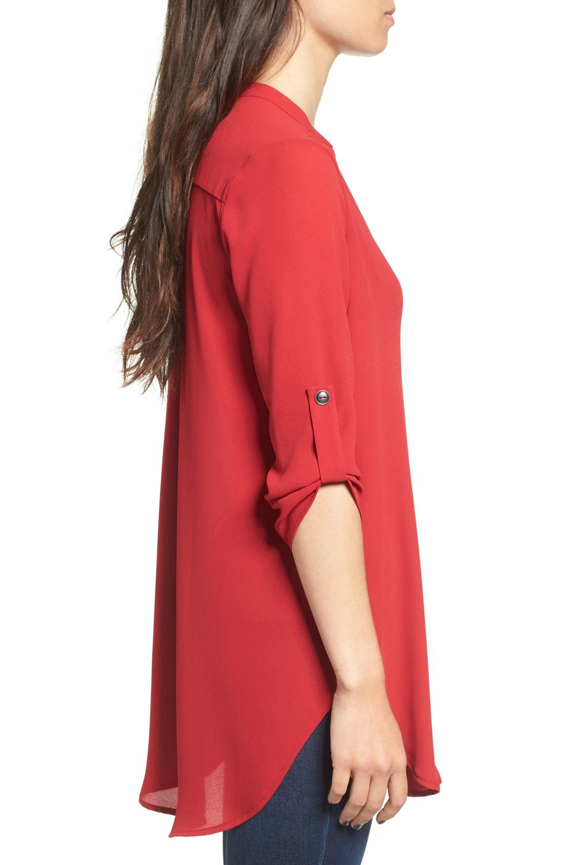 ,                             Perfect Roll Tab Sleeve Tunic,                             Alternate thumbnail 350, color,                             642