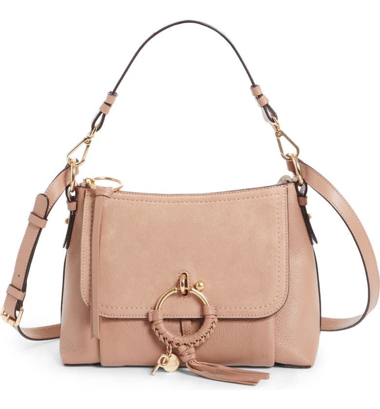 SEE BY CHLOÉ Small Joan Leather Shoulder Bag, Main, color, 650