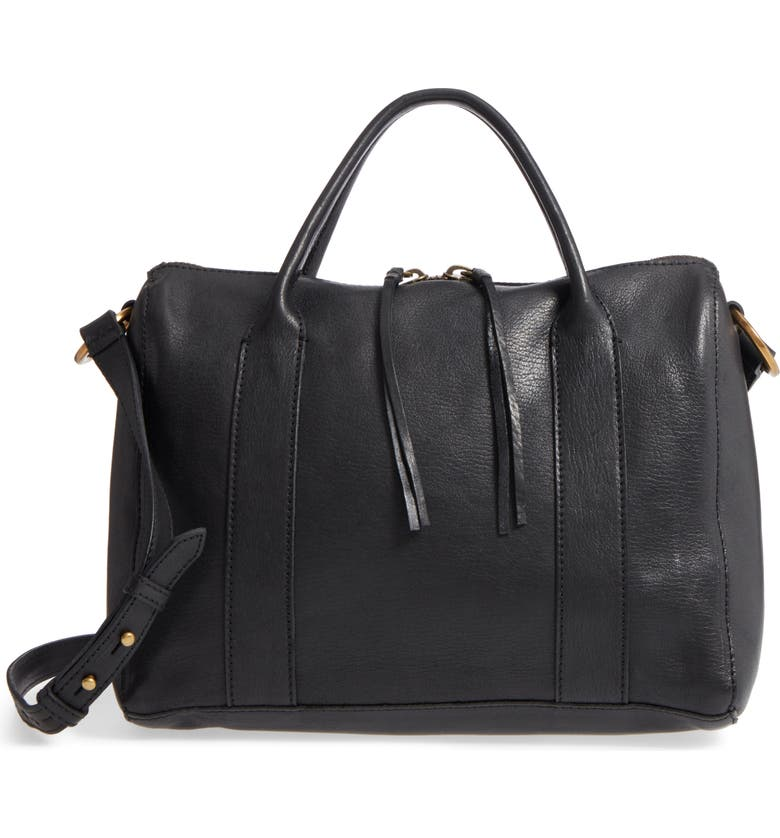 MADEWELL O-Ring Leather Satchel, Main, color, 001