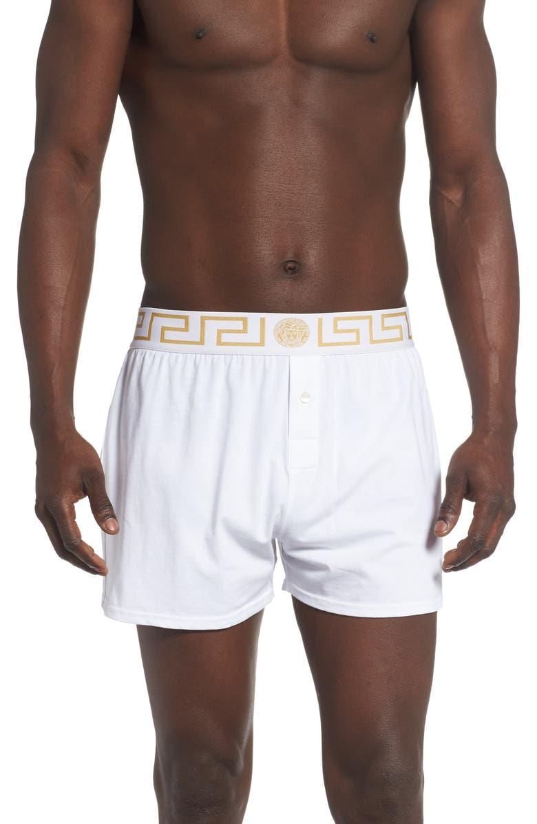 VERSACE Intimo Uomo Boxers, Main, color, WHITE/ GOLD