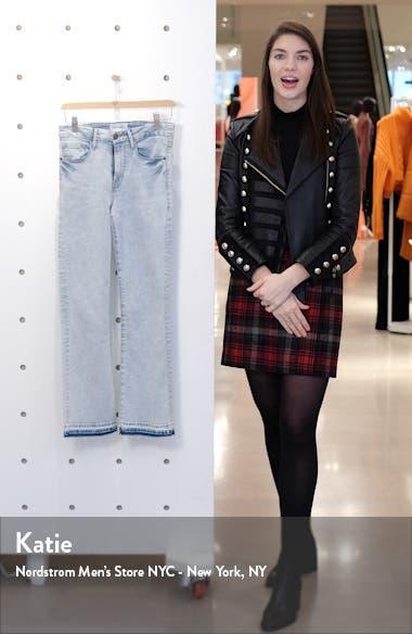 Le Crop Mini High Waist Release Hem Bootcut Jeans, sales video thumbnail