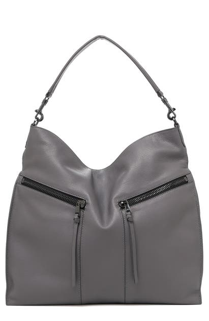 Botkier Bags TRIGGER PEBBLED LEATHER HOBO - GREY