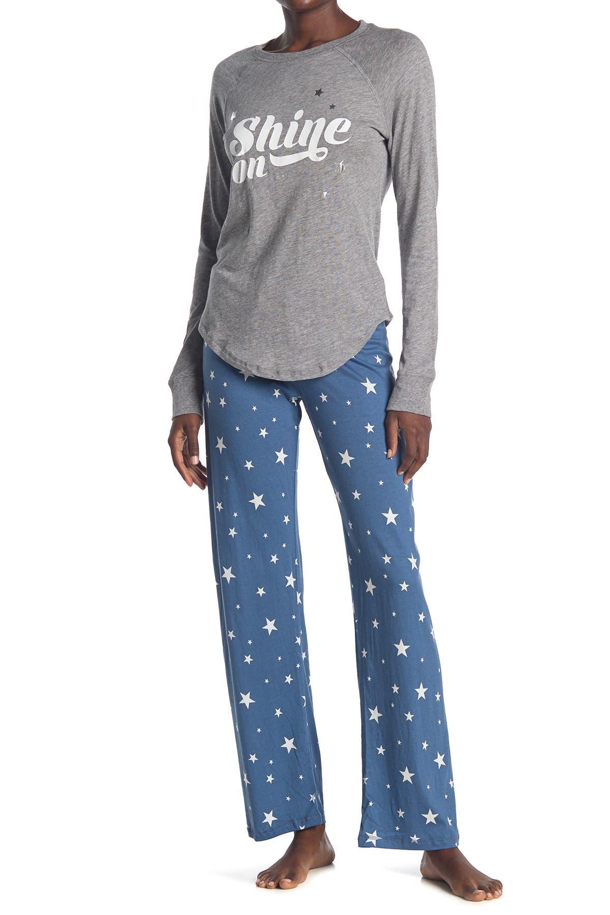 COZY ZOE Printed Shirt & Pants 2-Piece Pajama Set