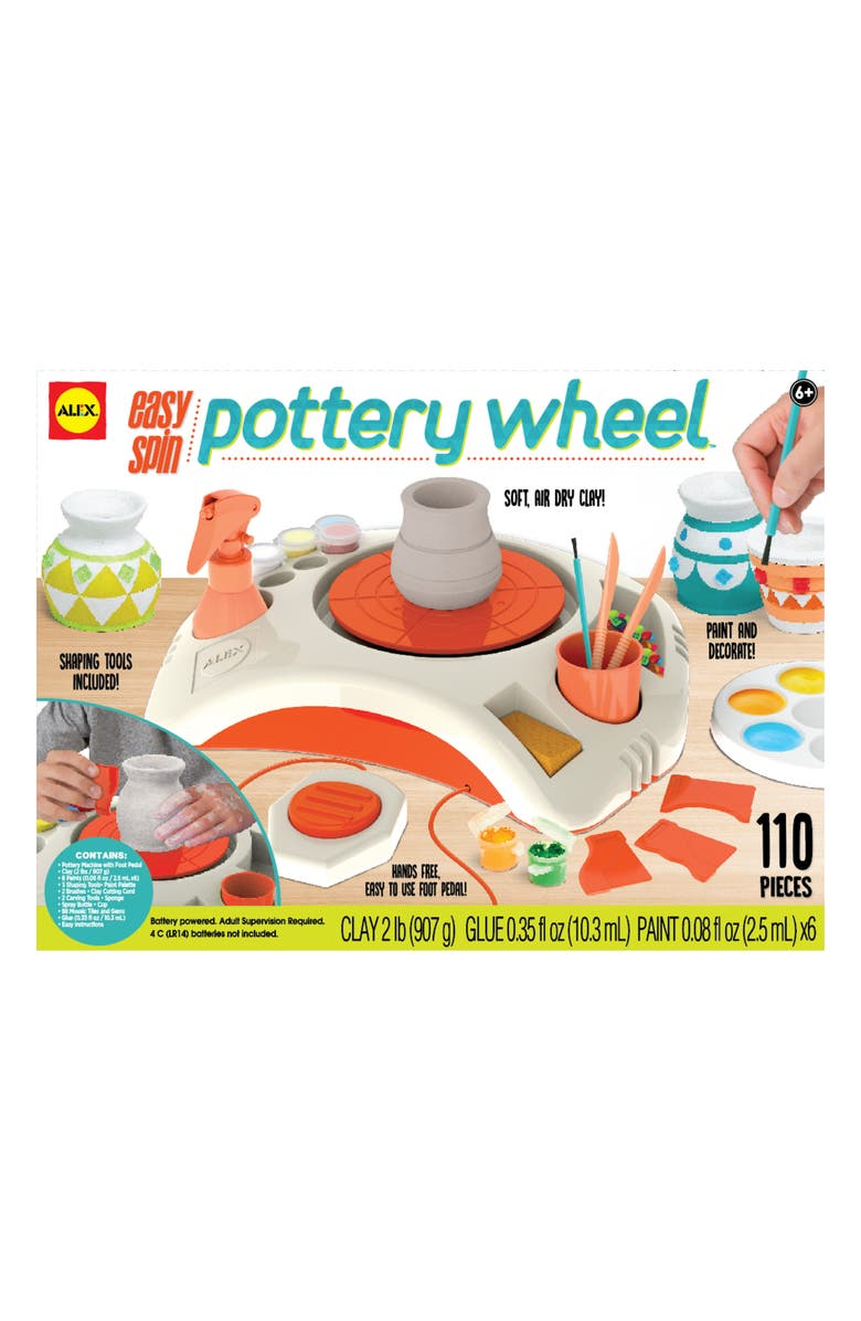 ALEX<SUP>®</SUP> TOYS Artist Studio Easy Spin Pottery Wheel, Main, color, GREEN MULTI