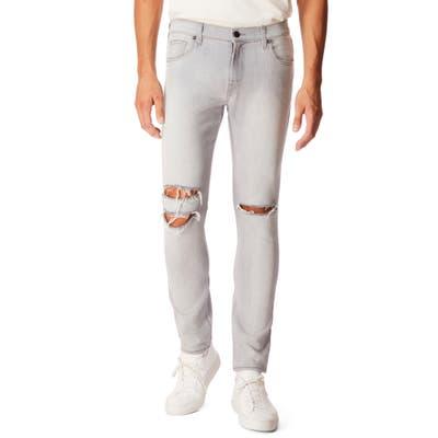 J Brand Mick Skinny Fit Ripped Jeans, Grey