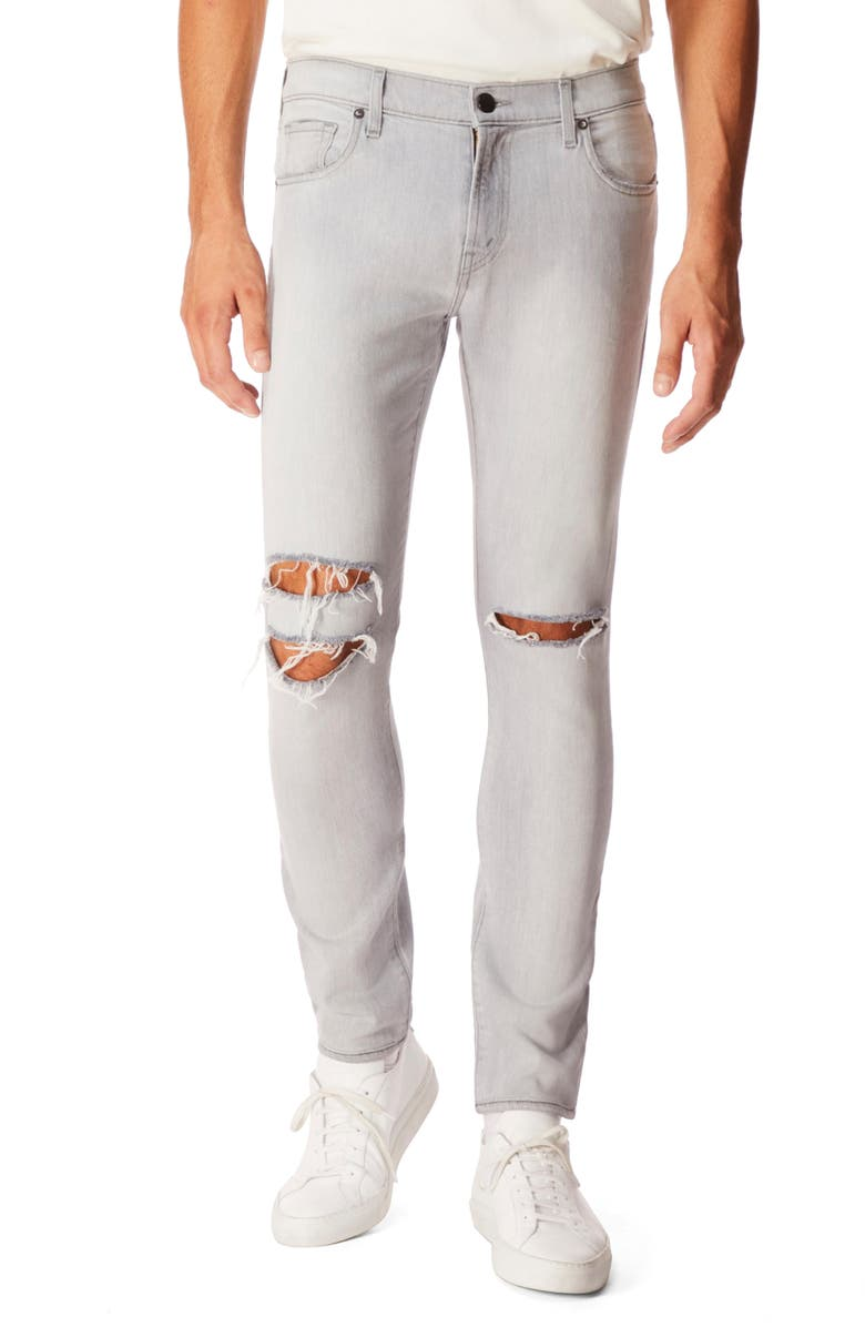 J BRAND Mick Skinny Fit Ripped Jeans, Main, color, GREYSTRIPE OAK