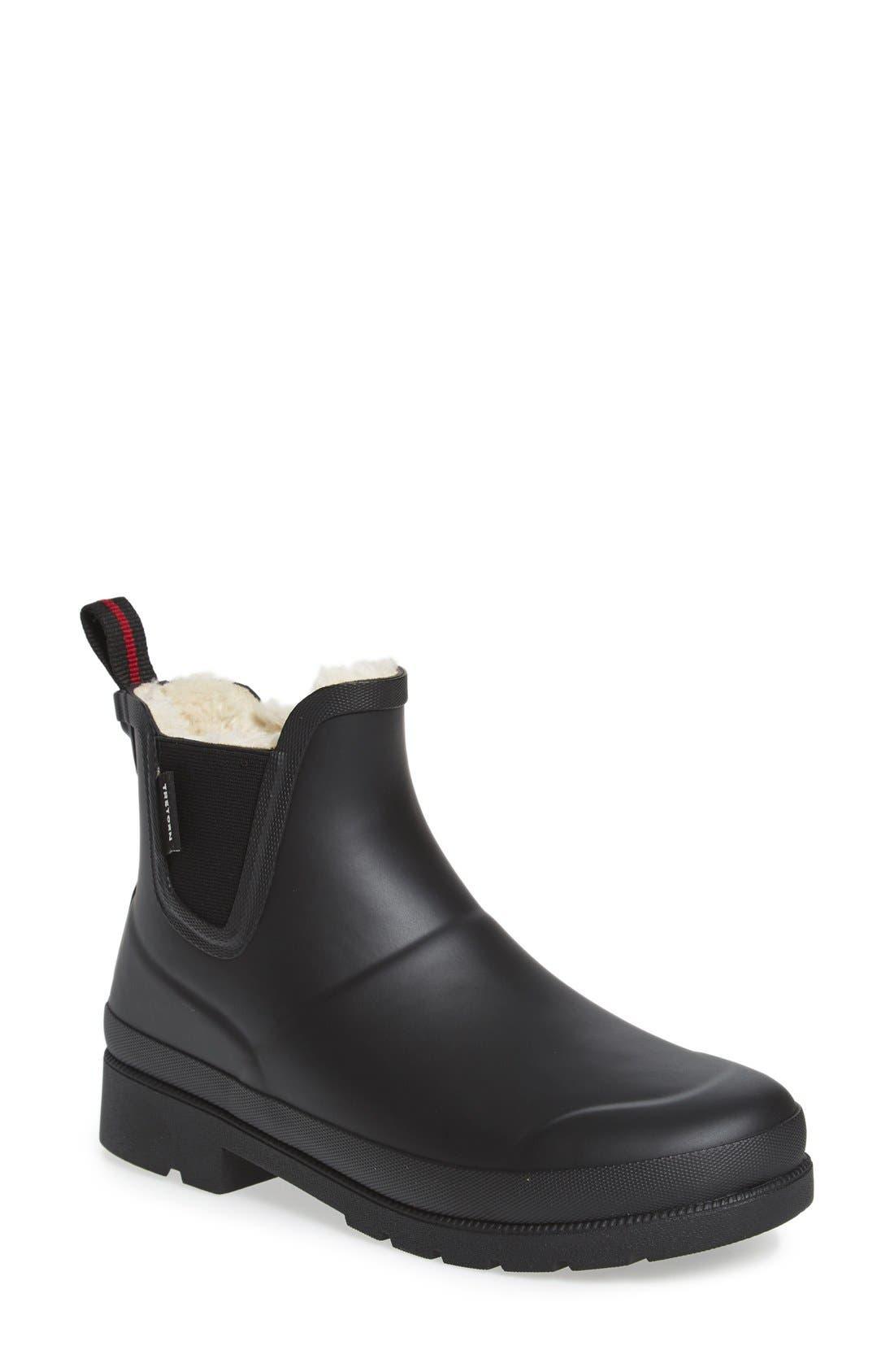 ,                             Chelsea Rain Boot,                             Main thumbnail 1, color,                             BLACK